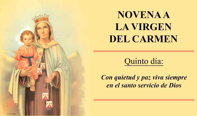 Resultado de imagen de virgen del carmen novena quinto dia